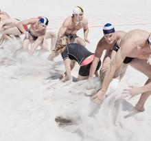 Sport Wettbewerb am Strand