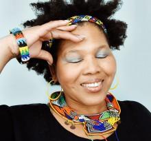 afrikanische Frau Sängerin Mpho