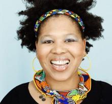 afrikanische Frau Sängerin Mpho von Portraitfotograf Christian Kasper