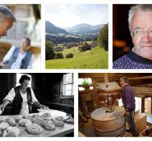 Szenen bäuerliches Leben in den Alpen