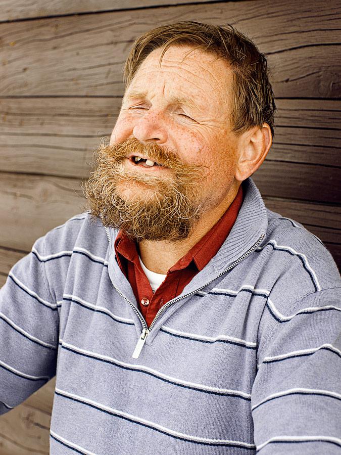 Portrait eine Bewohners der österreichischen Alpen