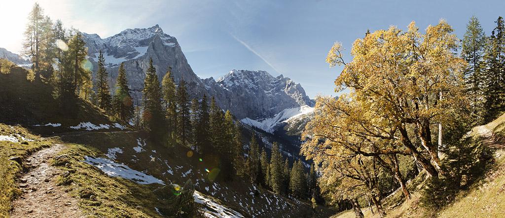Panoramafoto der Karwendelregion