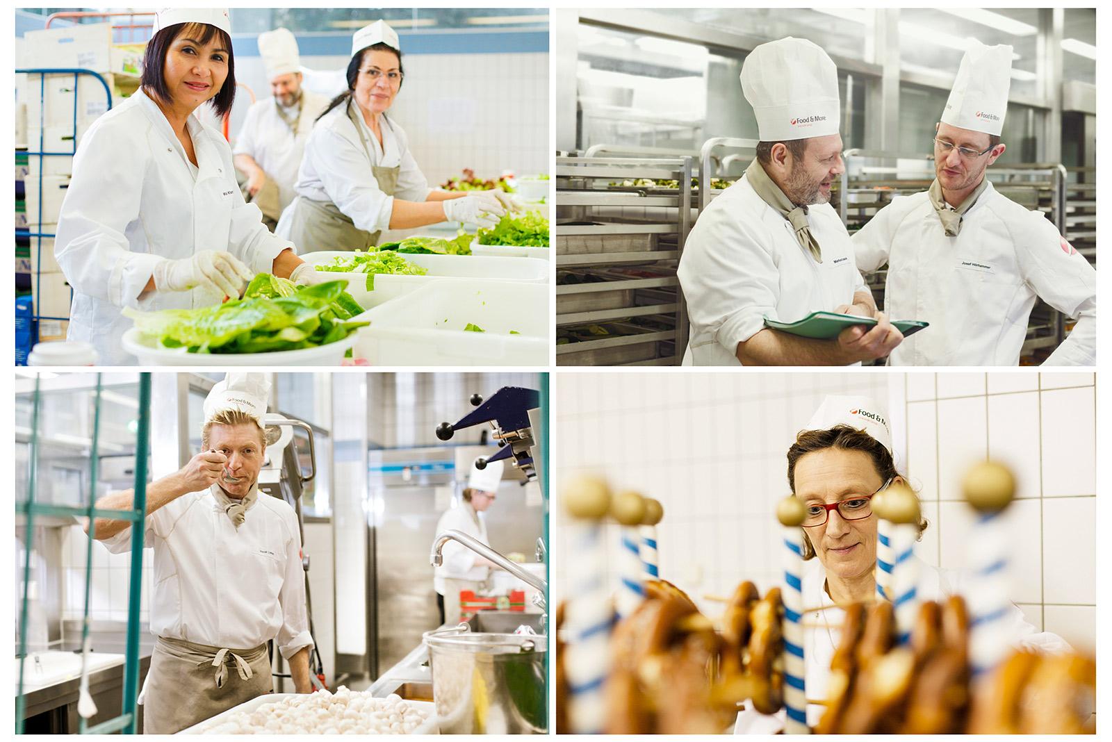 hinter den Kulissen einer Großküche - Corporate Fotografie München