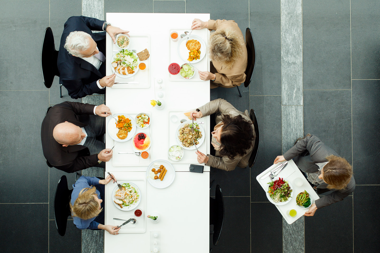 grafische Fotografie Businesslunch