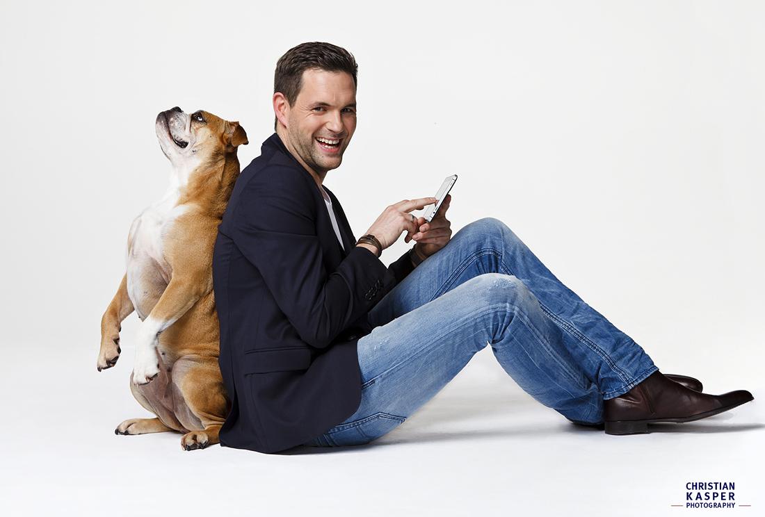 Matthias Killing mit Hund